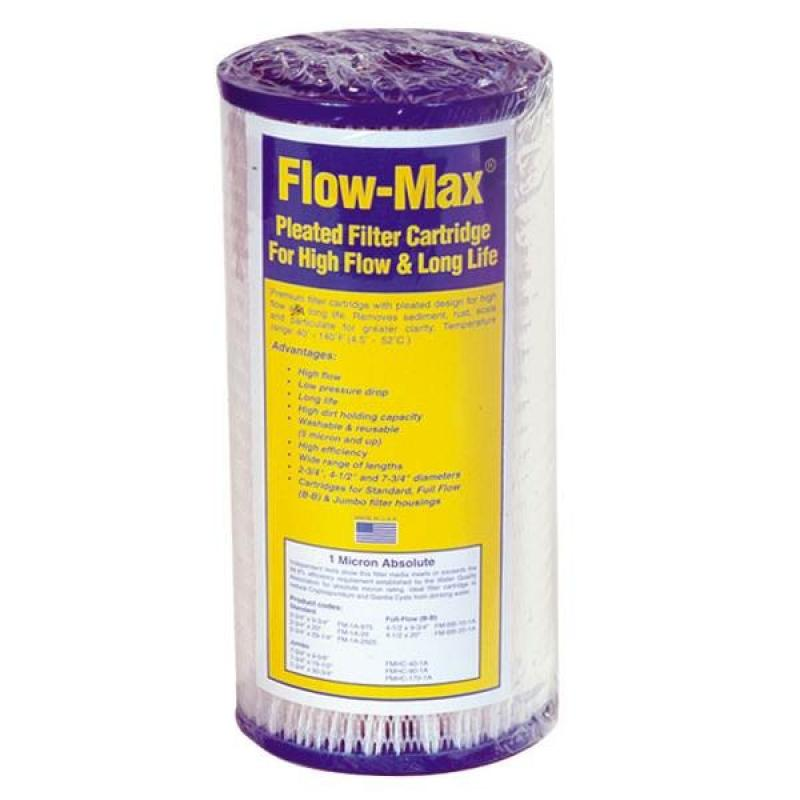 Watts Flow Max 1 Micron Absolute 4 5 X 10 Inch Pleated
