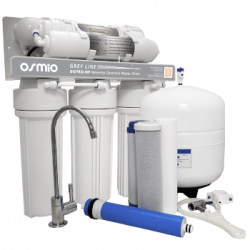 Osmio Grey Line 7-Stage Non-Pumped Reverse Osmosis Water Filter