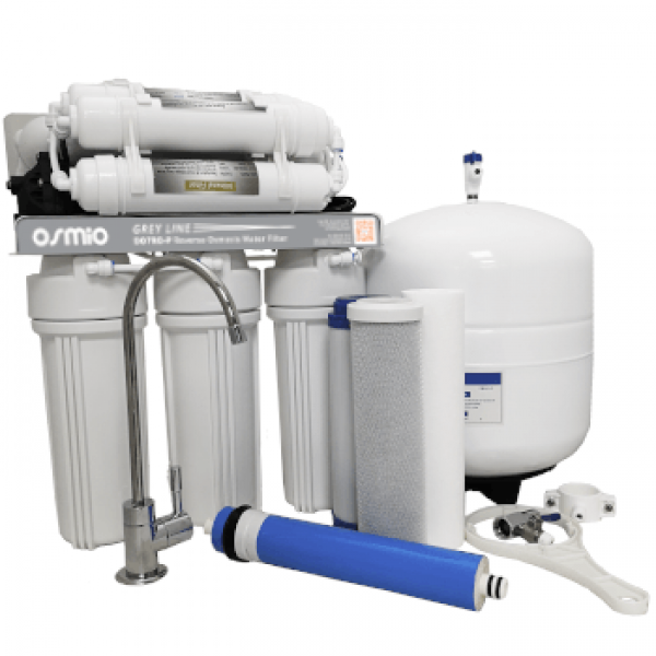 Osmio Grey Line 7-Stage Pumped Reverse Osmosis Water Filter
