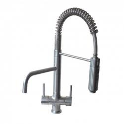 Azzurra Breve Brushed Chrome 3-Way Kitchen Tap Spray Hose