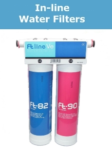 under counter inline water filter systems