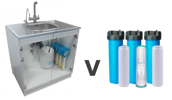 drinking water v whole house water filter