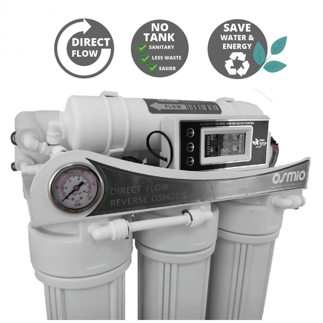 Osmio HT+ Dental & Lab Direct Flow commercial Reverse Osmosis System