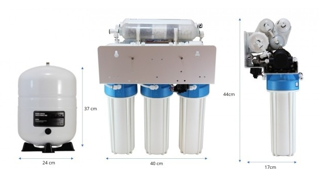 Osmio Grey Line 7-Stage Pumped Reverse Osmosis Water Filter  1520060390