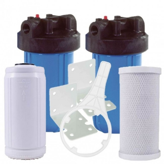 Dual Housing Whole House Water Filter