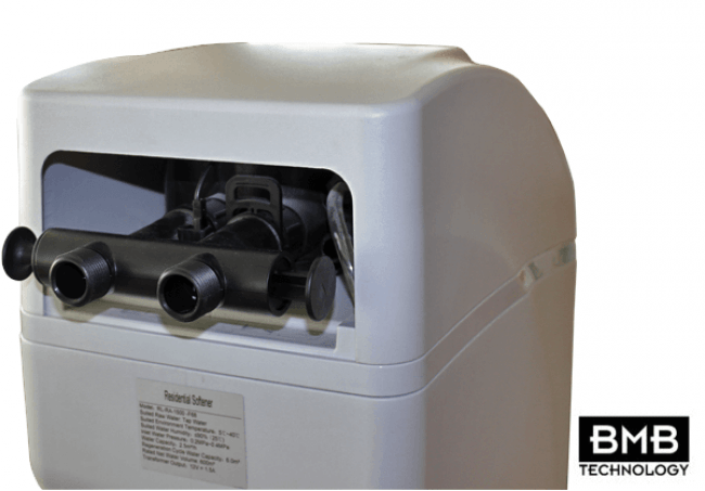 BMB 30 Litre Luxury Digital Water Softener - connections