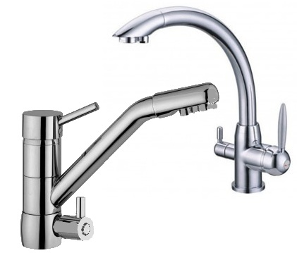 Triflow three way water filter taps